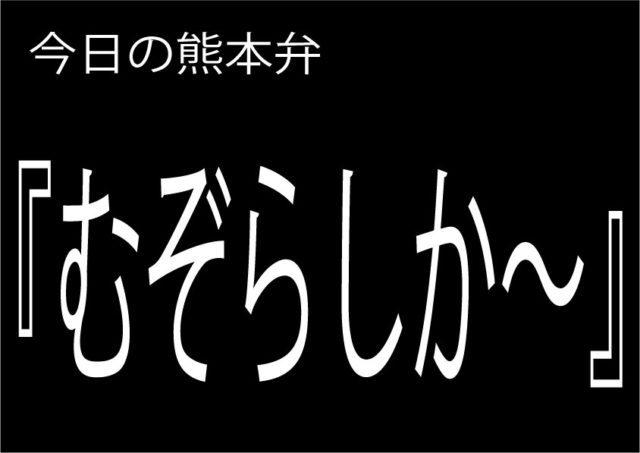【むぞらしか~】の意味と使い方|熊本弁方言講座(関西弁・大阪弁、京都弁、奈良弁でも解説)
