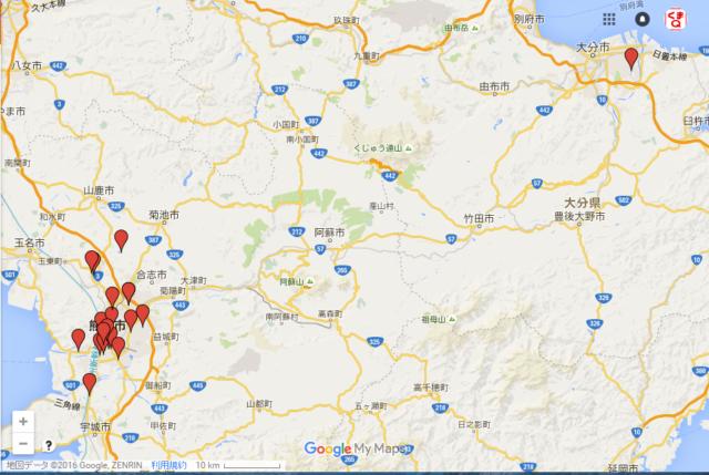 【ガソリンスタンド】熊本県内の給油可能なガソリンスタンド一覧とマップ(※リンク先は随時更新) #熊本地震