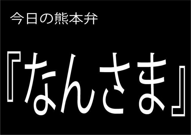【なんさま】の意味と使い方|熊本弁方言講座(関西弁・大阪弁、京都弁、奈良弁でも解説)