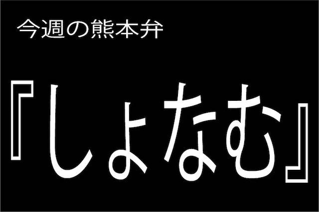 熊本弁 【しょなむ】の意味は?どぎゃん言うと?熊本弁・方言講座